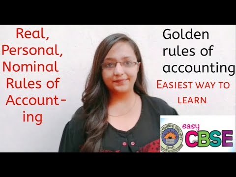 Real, Personal, Nominal accounts and golden rules of accounting