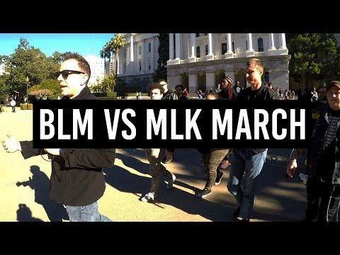 #BLM Protesters vs #MLK March: Harassed by White People (Again)