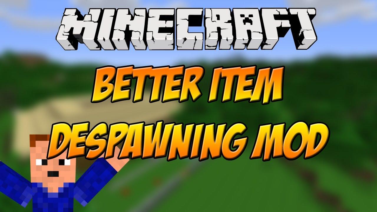 minecraft stop items despawning