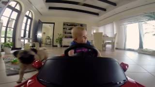 7 month baby driving a Ferrari (GoPro Hero 3+)