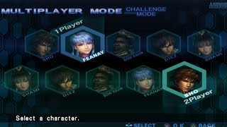 Crimson Sea 2 All Characters [PS2]