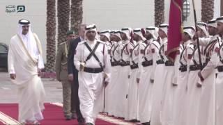 مصر العربية | أمير قطر يستقبل الرئيس التركي بمراسم رسمية