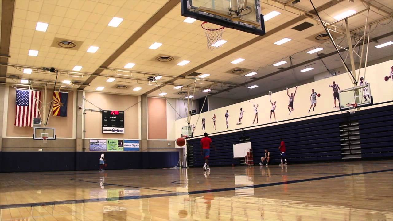 Pima aztecs basketball opeb gym youtube for How to build a basketball gym
