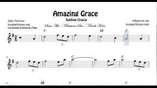 Amazing Grace Sheet Music for Alto Sax Baritone Sax and Horn Sublime Gracia
