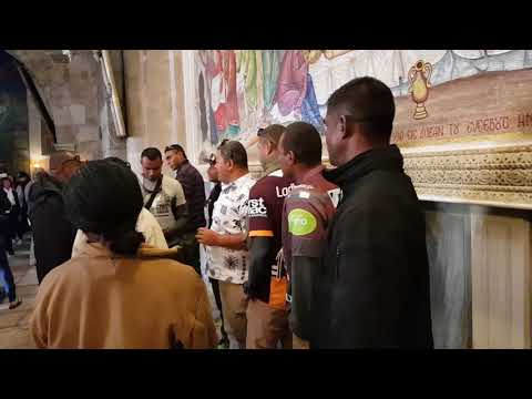 Look at what happens when a Christian group sings in the church where Jesus was buried. Jerusalem