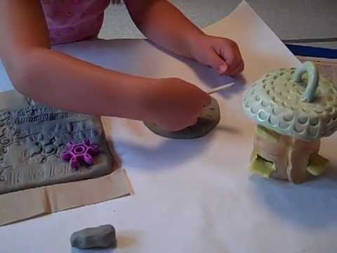 Clay house art lesson