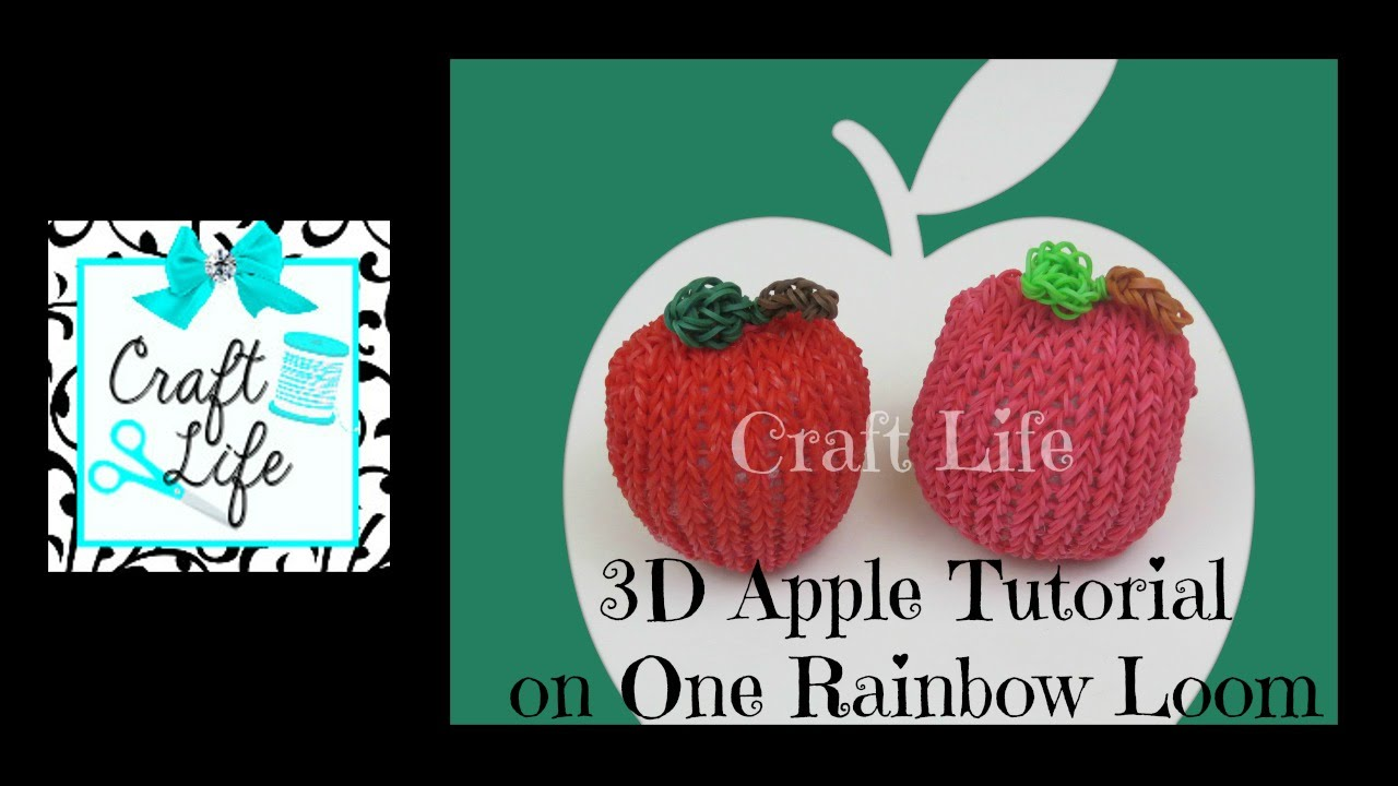 Craft Life 3D Apple Tutorial on One Rainbow Loom - YouTube Rainbow Loom Mini Purse Craft Life