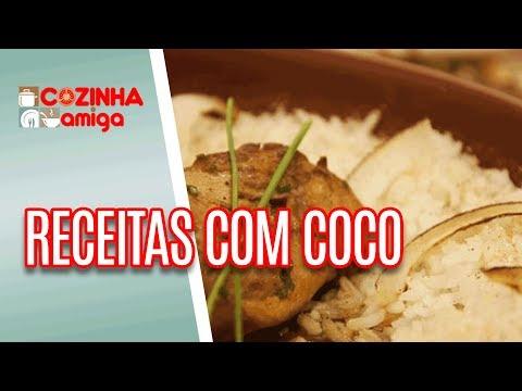 Arroz de Coco, Filé de Frango com Leite de Coco e Bolo - Raquel Novais | Cozinha Amiga (09/07/18)