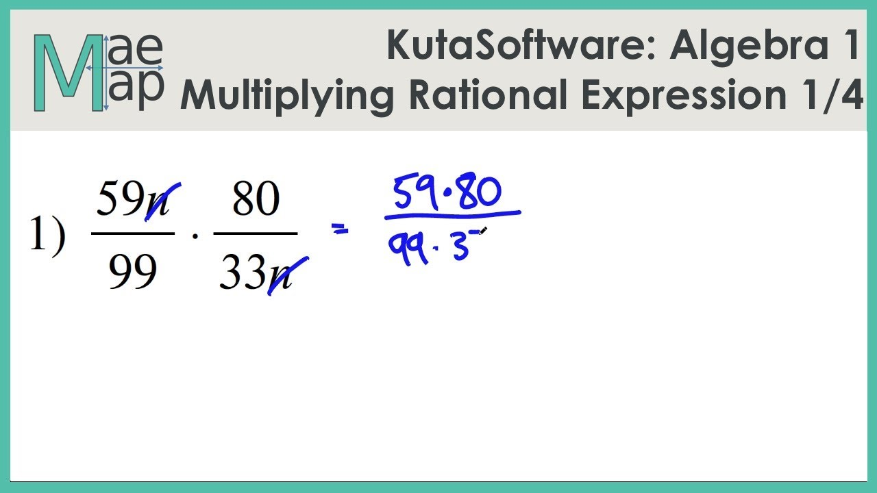 KutaSoftware: Algebra 1- Multiplying Rational Expressions Part 1