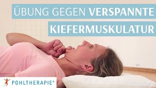 Übung gegen verspannte Kiefermuskulatur - Selbstpandiculation