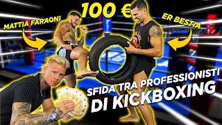 REGALO 100 EURO a chi resiste a più TIBIATE sulla ruota! | *KICKBOXER PROFESSIONISTI*