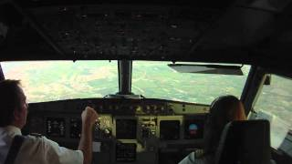 Cockpit view landing in Algiers