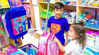 سوبر سمعة وفرح الشنطة المدرسية - super somaa and farah the school bag