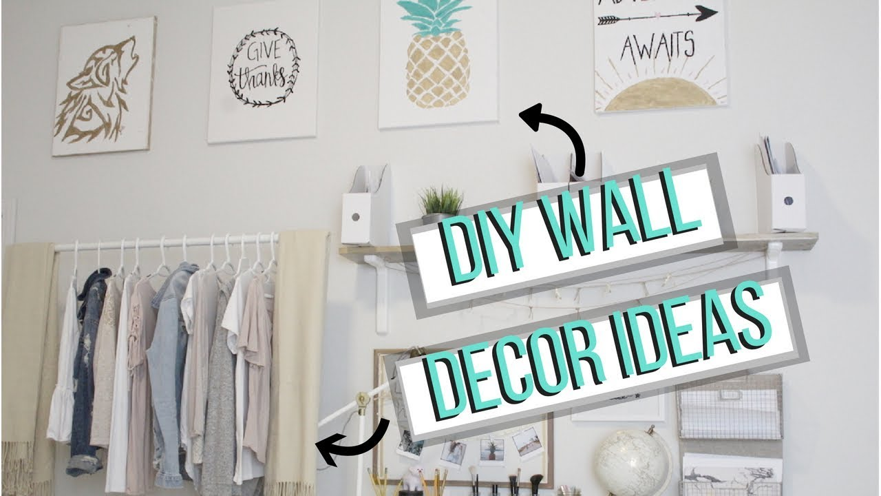 Fill Up Empty Wall Space Tumblr Diy Wall Decor Ideas Youtube