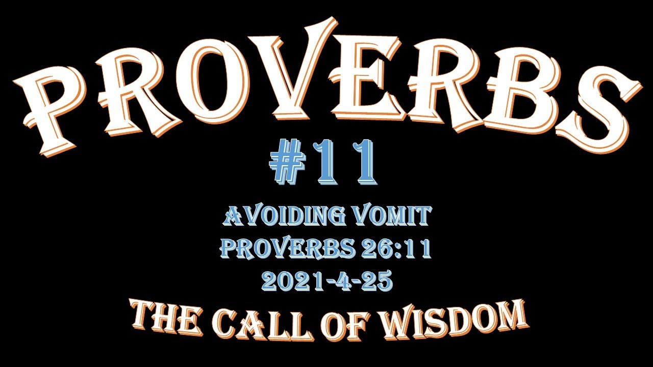 Proverbs #11 - Avoiding Vomit