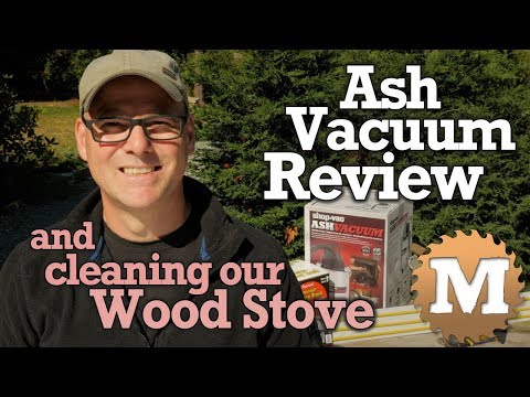 Ash Vacuum Review, Chimney Sweeping & Cleaning our Wood Stove