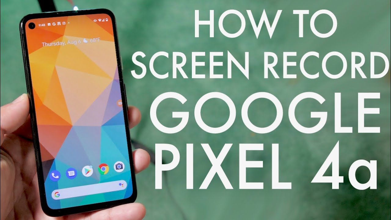 How To Screen Record On Google Pixel 4a!