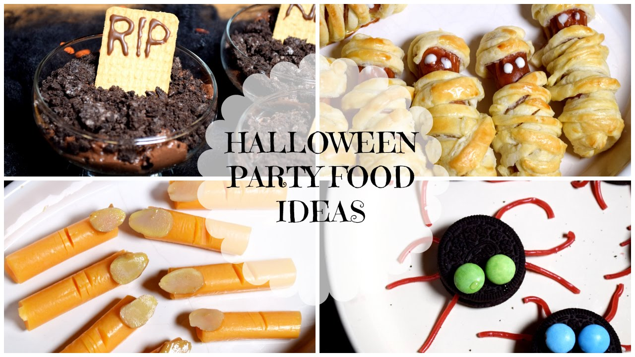 easy quick halloween party food ideas youtube
