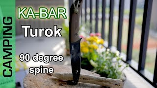 KA-BAR Turok with 90 degree spine review