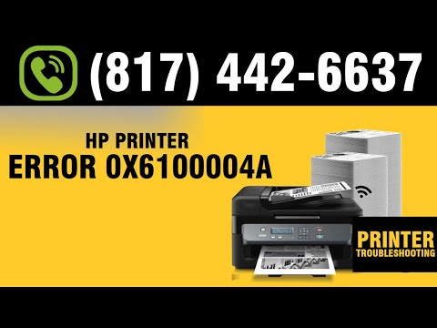Reason Of HP Printer Error 0x6100004a | Guide To Fix HP Error With Troubleshooting Guide