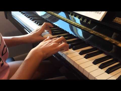 An intermediate student plays Mozart