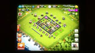 CLASH OF CLANS Tattica di difesa municipio LIV.6 150 trofei in una notte !
