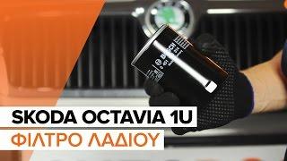 Πώς αλλαζω Φίλτρο λαδιού SKODA OCTAVIA (1U2) - δωρεάν διαδικτυακό βίντεο