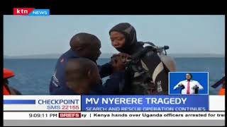 A survivor rescued two days after MV Nyerere tragedy