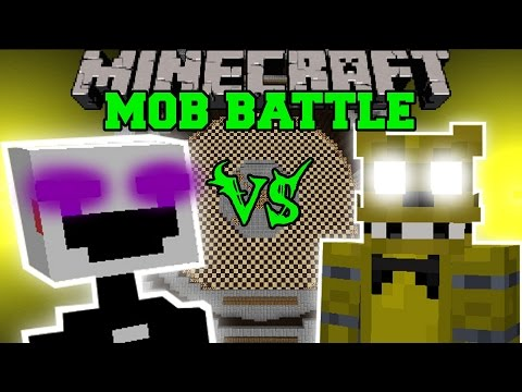 PUPPET MASTER VS GOLDEN FREDDY - Minecraft Mob Battles - Minecraft Mods