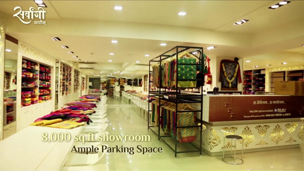 Sarvaangi sarees showroom ad