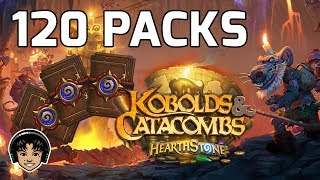 Opening 120 Packs! Kobolds And Catacombs! [Hearthstone]