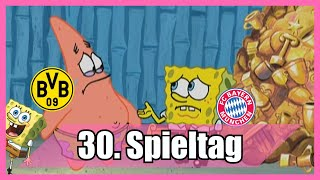 Bundesliga 30. Spieltag portrayed by Spongebob [Deutsch/German]