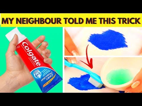 Remove Ink Stains from Clothes, Shirts and Jeans Fast At Home with Toothpaste after Washing 😍