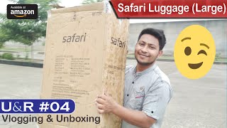 U&R #04 | Vlogging & Luggage Unboxing & Review | Safari Luggage Large Size From Amazon | Sasta Deal