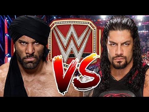 WWE RAW 2K17 - Roman Reigns vs Jinder...