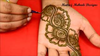 Easy Simple  Arabic Mehndi Designs For Hands|Arabic Henna Designs|Matroj Mehndi Designs thumbnail
