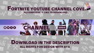 Fortnite gamer youtube channel cover template - Free cover