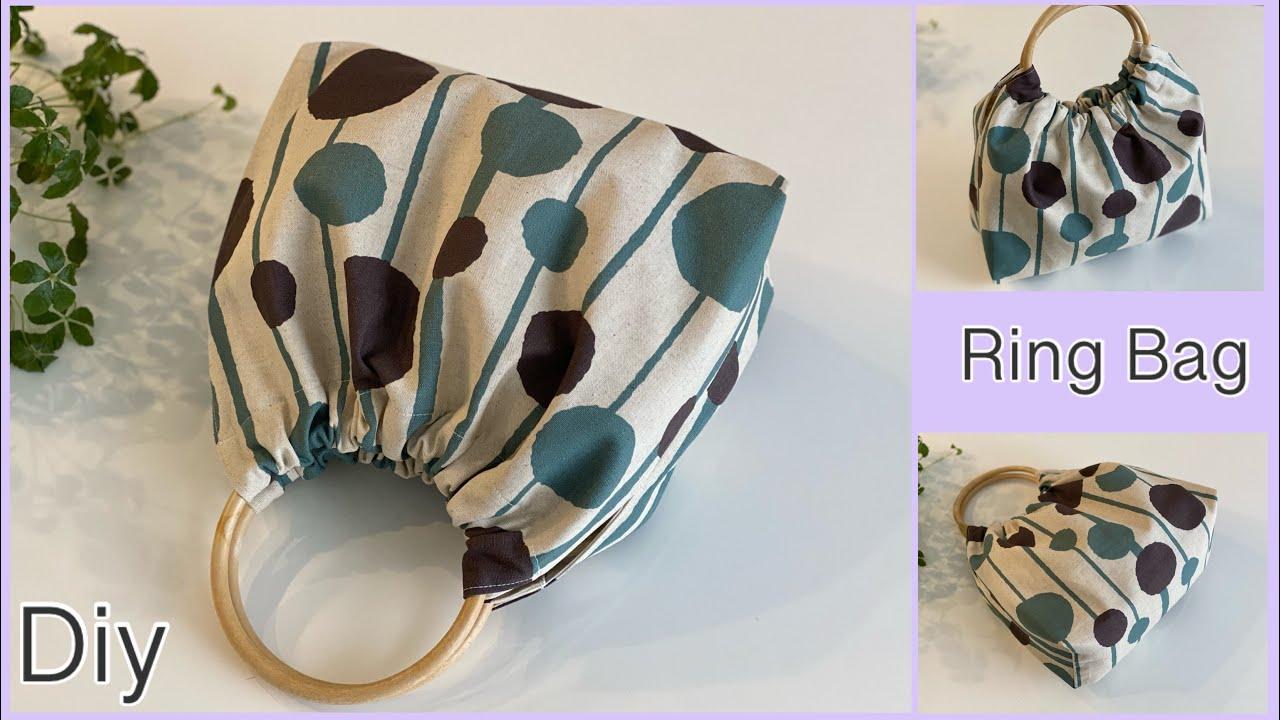 持ち手リンクバッグ作り方, How To Make Ring Bag, easy sewing tutorials, Diy