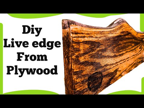 DIY live edge wood  / plywood/ 2019