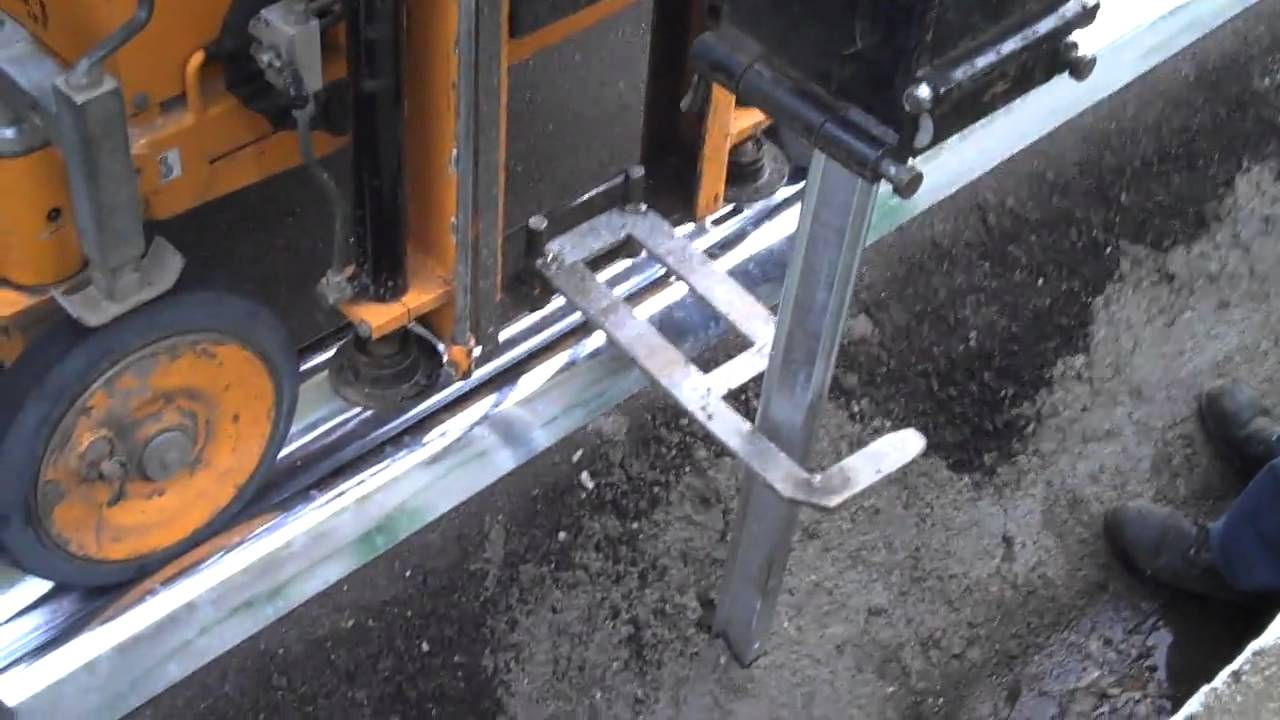 Guardrail Post Driving Machine