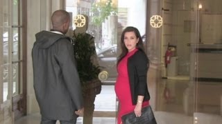 EXCLUSIVE - Kim Kardashian and Kanye West are reunited in Paris, France