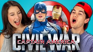 teens react to captain america civil war trailer