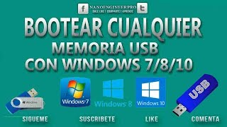 Bootear USB con 3 Softwares windows 7/8/8.1/10 | Facíl, Rápido y Práctico | 2018