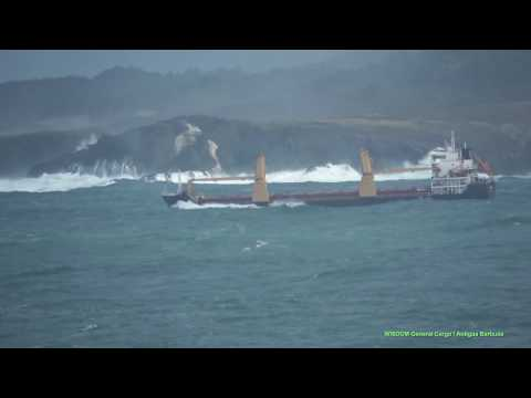 WISDOM Stormy Weather at Departure from La Coruna (Spain) - 28 February 2017