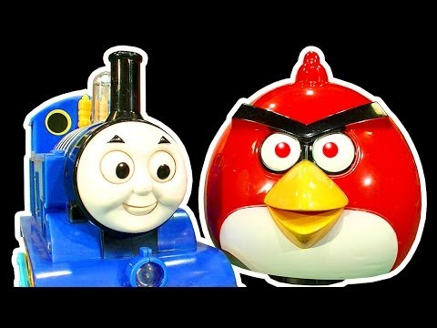 Angry Birds Dark Side Knock Off Toys Ep 4 & 5 Thomas Tank Battle Mr Hammer Smashing Chaos