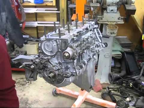 944 engine assembly - oil pan, front seals, water pump and ...