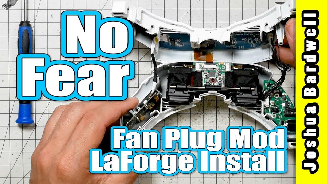 LaForge v4 Internal Install and Fan Plug Mod   FATSHARK GOGGLE MOD ...