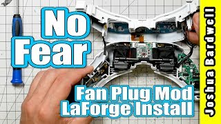 LaForge v4 Internal Install and Fan Plug Mod | FATSHARK GOGGLE MOD