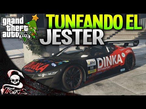 GTA 5   TUNEANDO EL NUEVO JESTER DE CARRERAS DLC NAVIDAD GTA V 1.21   XxStratusXx