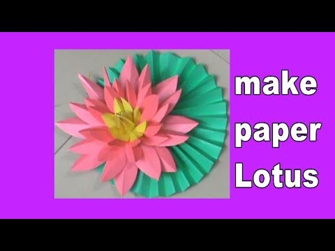 how to make paper lotus flower step by step | paper crafts tutorial